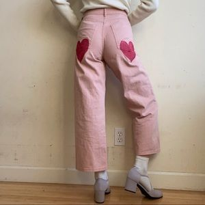 Forever 21 Hand Painted Pastel Pink Pants